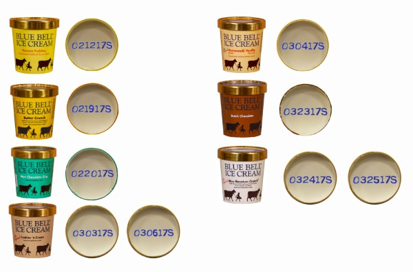 Blue Bell Recalled Products